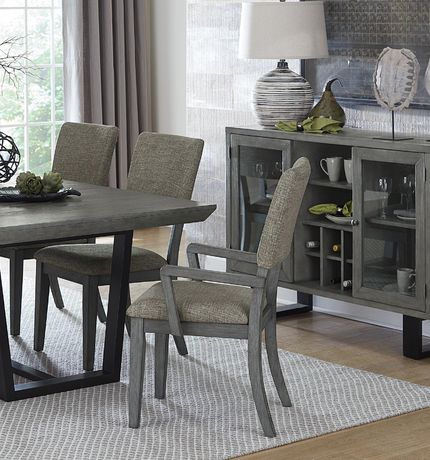 Topline Home Furnishings Grey Dining Arm Chair Walmart Canada