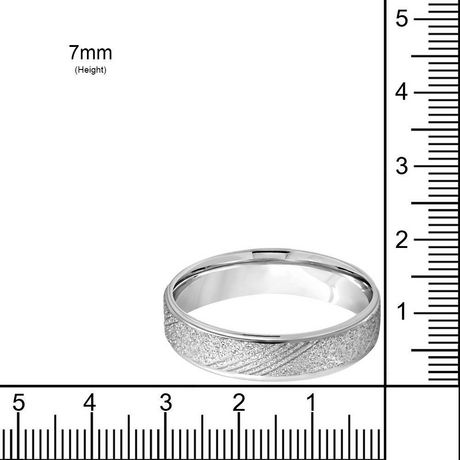 Pure316 Women's 7 mm Fancy Sandblasted Comfort Fit Band Ring - image 2 of 2