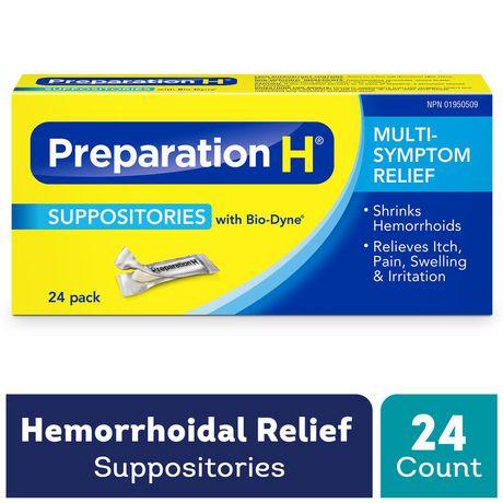Paquet de suppositoires de Préparation H - image 1 de 4
