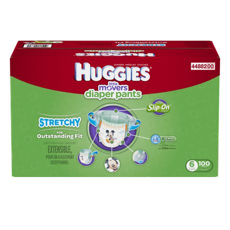 Huggies Little Movers Slip-On Diapers, Economy Pack - image 3 of 3