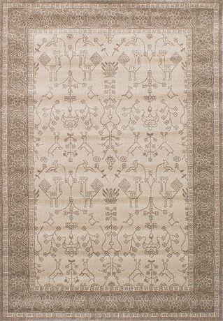 """Tapis Tribal Overdye Khaki Polypropylène 5'3""""x7'7"""" - image 1 de 3"""