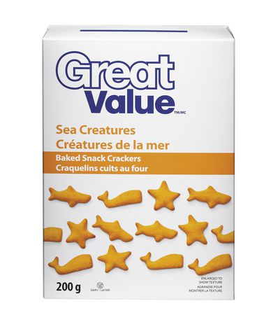 Great Value Sea Creatures Baked Snack Crackers - image 1 of 2