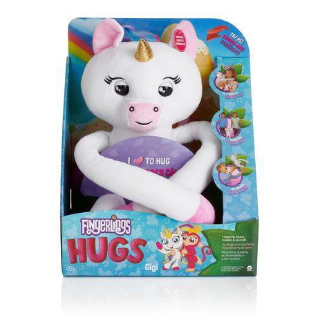 Fingerlings HUGS - Gigi (Blanc) - Bébé licorne interactif en peluche avancé – Par WowWee - image 5 de 5