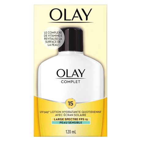 Olay Complete All Day Moisturizer with Uv Protection Spf 15 Oil-Free Lotion for Sensitive Skin, Vitamin E & Aloe - image 2 of 7