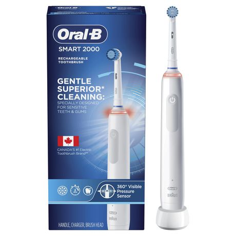 brosse dents lectrique rechargeable oral b pro 2000 walmart canada. Black Bedroom Furniture Sets. Home Design Ideas