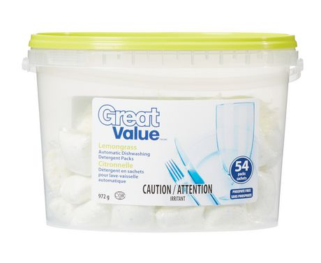 Great Value Lemongrass Automatic Dishwashing Detergent Packs - image 1 of 1