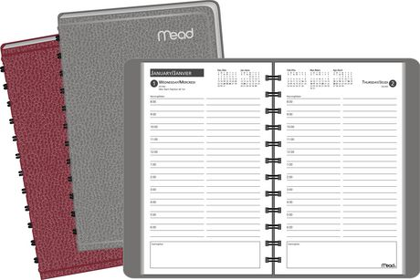 mead recycled daily appointment book walmart canada