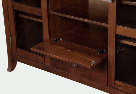 wyndenhall collins medium mahogany brown high tall tv stand walmart canada. Black Bedroom Furniture Sets. Home Design Ideas
