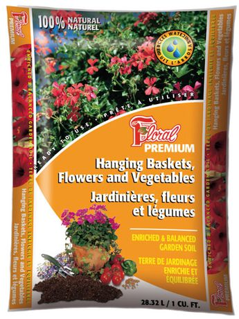 floral premium garden soil for hanging baskets flowers vegetables - Walmart Garden Soil
