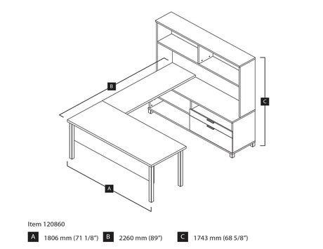 Bestar Pro Linea U Desk With Hutch Walmart Canada