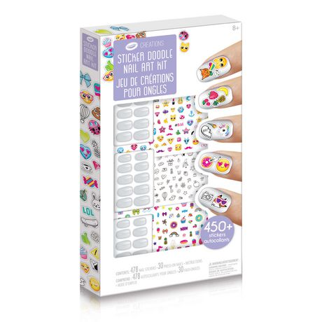 Crayola Creations Sticker Doodle Nail Art Kit Walmart Canada
