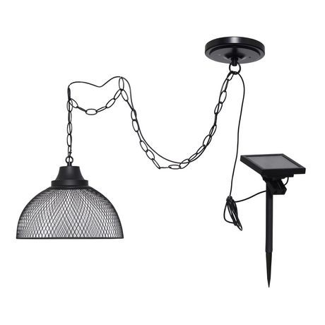 lampe suspension solaire hometrends avec t l commande walmart canada. Black Bedroom Furniture Sets. Home Design Ideas