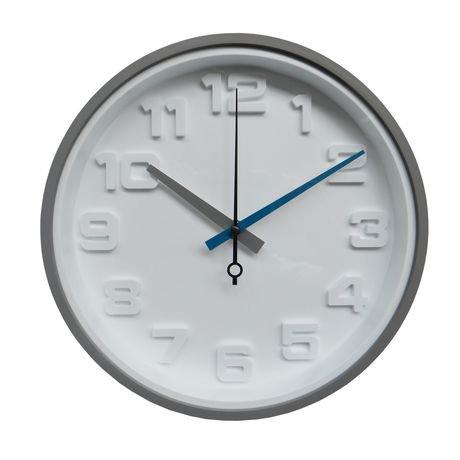 horloge murale hometrends grise chiffres en 3d. Black Bedroom Furniture Sets. Home Design Ideas
