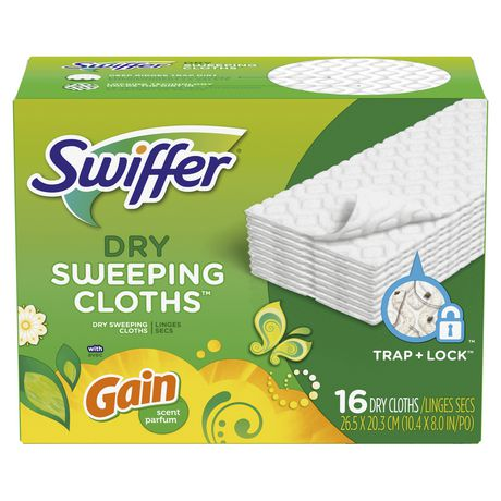 Swiffer Sweeper Dry Sweeping Pad Multi Surface Refills for Dusters floor mop, Gain - image 1 of 7