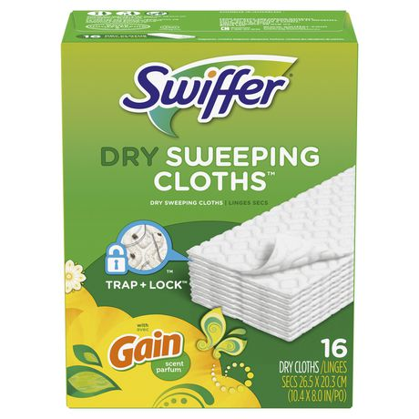 Swiffer Sweeper Dry Sweeping Pad Multi Surface Refills for Dusters floor mop, Gain - image 2 of 7