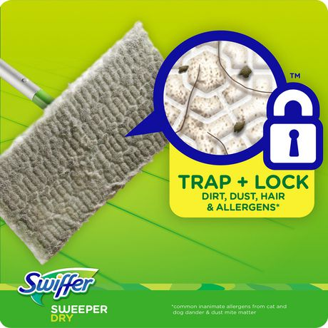 Swiffer Sweeper Dry Sweeping Pad Multi Surface Refills for Dusters floor mop, Gain - image 5 of 7