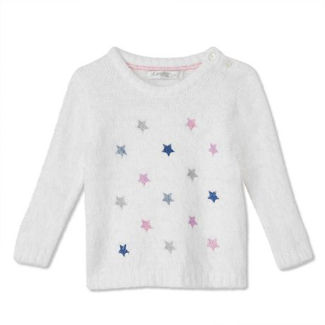 george baby girls' star print sweater | walmart canada