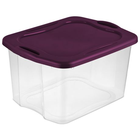 Sterilite 66L Easy Carry Storage Box  Purple