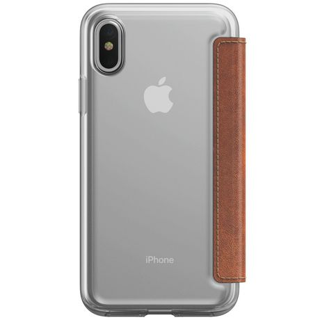 the best attitude 6ede3 377ae Nomad Leather Folio Clear Case for iPhone X
