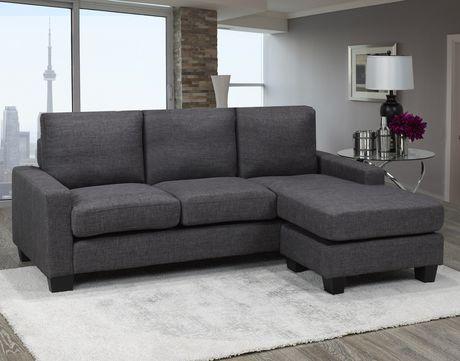 Brassex Riley Sectional Sofa, Grey by Brassex