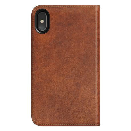 cheap for discount f03e1 8a8df Nomad Traditional-Leather Folio Case for iPhone X