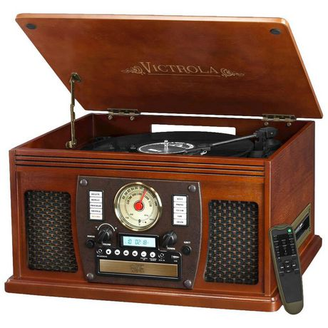 Victrola The Aviator Vta 600b 7 In 1 Turntable Bluetooth Wooden Music Center