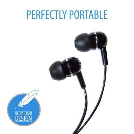 V7 Ha100 2np Noise Isolating Stereo Earbuds Black