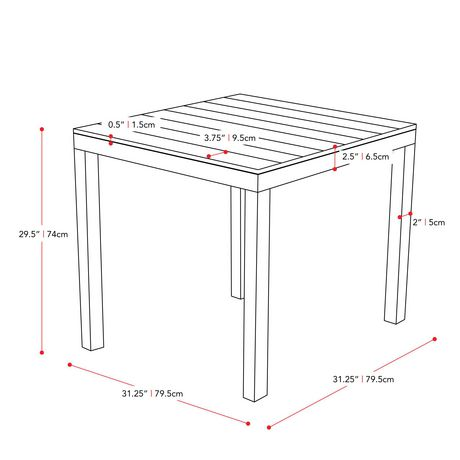 CorLiving Brisbane Square Outdoor Dining Table - image 4 of 4
