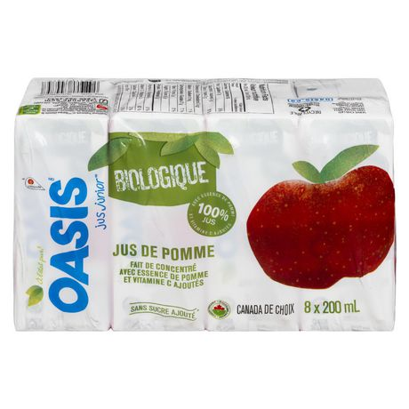 Oasis Junior Juice Organic Apple Juice - image 2 of 3
