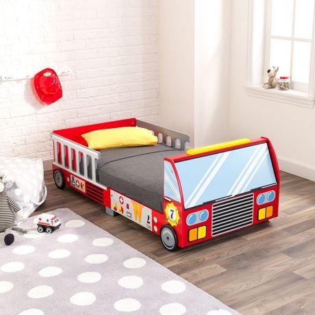 KidKraft Lit de bébé Camion de pompiers - image 3 de 8