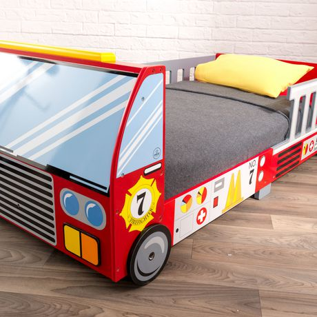 the latest 5e13f 17dd1 KidKraft Fire Truck Toddler Bed