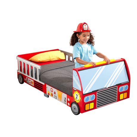 KidKraft Lit de bébé Camion de pompiers - image 2 de 8