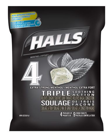halls extra strong menthol triple soothing action cough tablets walmart canada. Black Bedroom Furniture Sets. Home Design Ideas