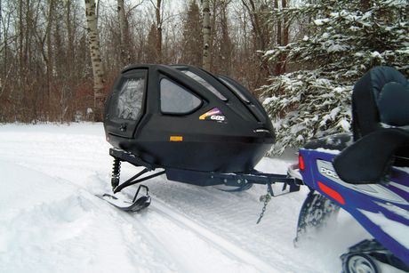 Equinox Snowcoach Boggan Black With Exterior Storage Rack
