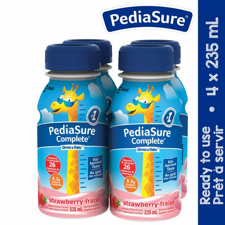 PediaSure Complete, nutritional supplement, 4 x 235 mL, Strawberry - image 1 of 7