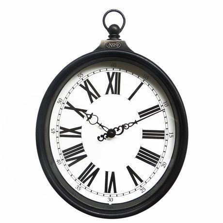 Hometrends Oval Pocket Watch Wall Clock Walmart Canada
