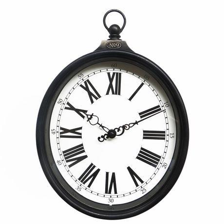 horloge murale hometrends de type montre gousset ovale walmart canada. Black Bedroom Furniture Sets. Home Design Ideas