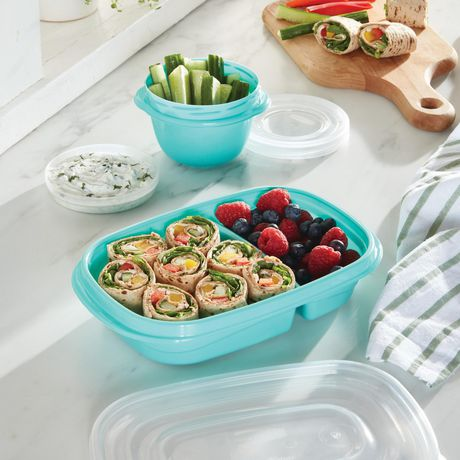 Rubbermaid TakeAlongs Sandwich Food Storage Containers, 887 ML, 3 Count - image 4 of 5