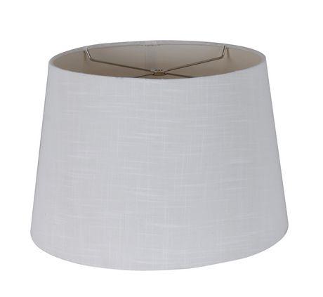 "13"" White Crosshatch Linen Shade - image 1 of 1"