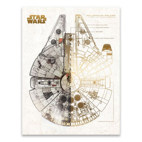 Millennium Falcon Schematic on