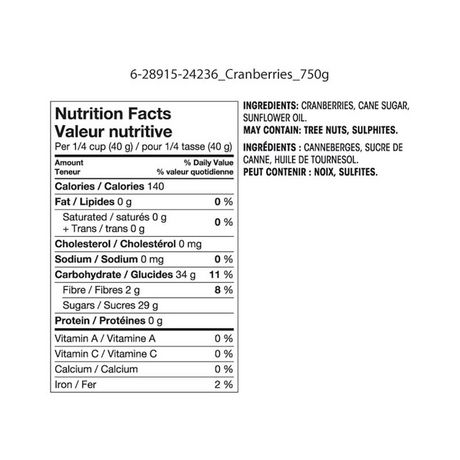 Great Value Sweetened Dried Cranberries - image 2 of 2
