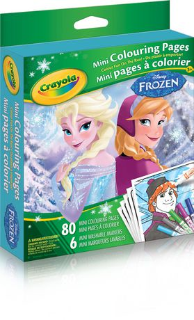 Crayola Frozen Mini Colouring Pages