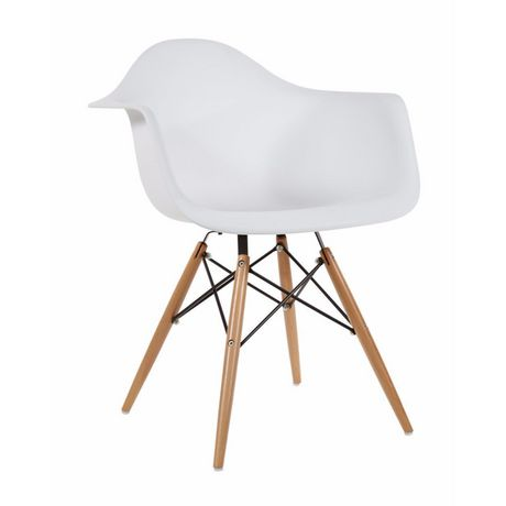 Chaise Eames Dar De Nicer Furniture Jambes En Bois Et Blanc