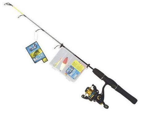 Ready to fish premount ice combo at for Walmart fishing combos
