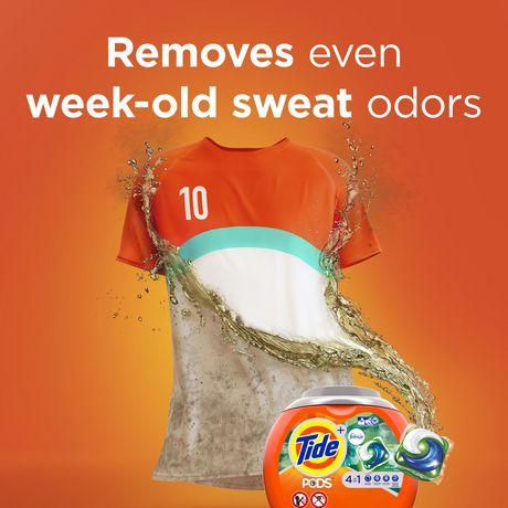 Tide PODS™ Plus Febreze™ Laundry Detergent Pacs, Botanical Rain Scent, 54-count tub - image 4 of 6