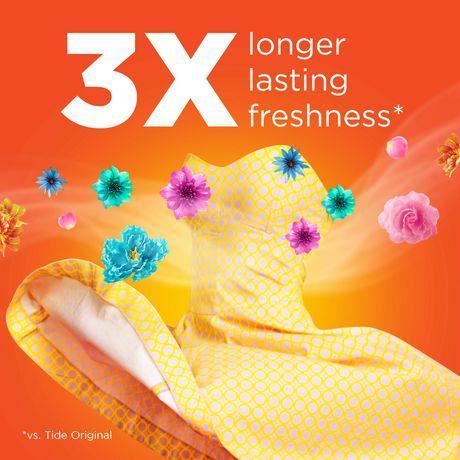 Tide PODS™ Plus Febreze™ Laundry Detergent Pacs, Botanical Rain Scent, 54-count tub - image 3 of 6