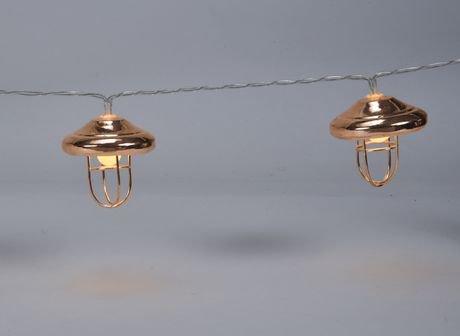 Boutique Home Copper Cage Lantern Led String Lights