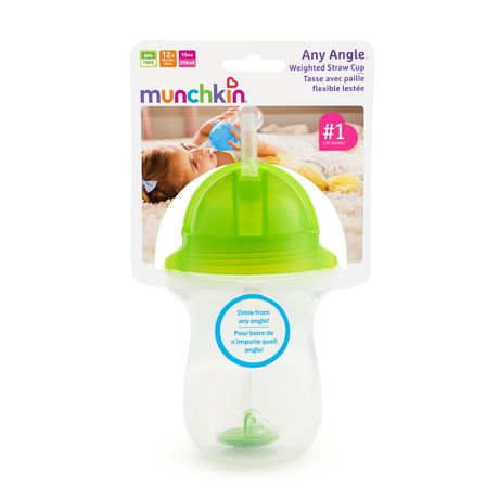 Munchkin Any Angle Click Lock™ Weighted Straw Cup - 10oz (green) - image 5 of 5