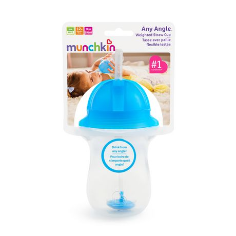 Munchkin Any Angle Click Lock™ Weighted Straw Cup - 10oz (blue) - image 4 of 4