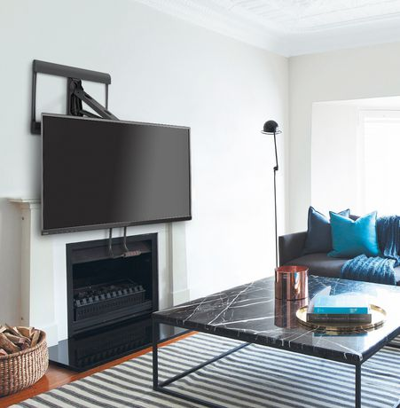 Prime mounts full motion pull down over the fireplace tv - Pull down tv mount over fireplace ...
